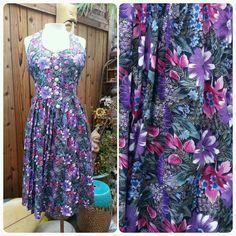 Vintage Rockabilly Dress Jeanette Halter Sleeves Hawaiian Dress Halter Sundress in Clothing, Shoes & Accessories, Vintage, Women's Vintage Clothing | eBay