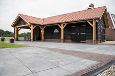 Horse Farm Layout, Oak Framed Buildings, Outdoor Buildings, Diy Shed, Horse Farms, Pool Houses, Sweet Home, Barn, Home And Garden