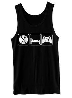Eat Sleep Game Tank Top Funny Video Games Geekery by BigtimeTeez, $16.99