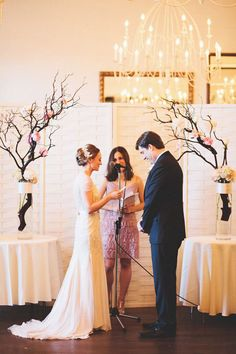 Branches to frame your wedding ceremony space! Top 10 Floral Ideas to Make Your Wedding Bloom