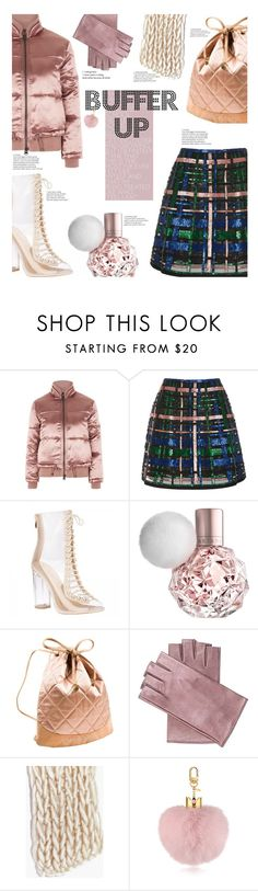 """""""Buffer up for the cold!"""" by chalsouv ❤ liked on Polyvore featuring Topshop, Elie Saab, Chanel, Mario Portolano, Boohoo and buffer"""