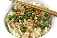 pad-thai. Make it low carb by switching coleslaw mix for the rice noodles and omitting/substituting brown sugar Splenda blend.