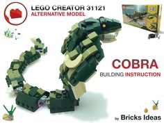 Lego Creator, The Creator, Cobra Snake, Lego Models, Bricks, Crocodile, Alternative, Building, Ideas