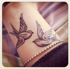 Wrist tattoo - birds