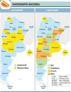 El mapa electoral de Ámbito