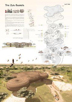 International Wildlife Center,  The Zulu Baskets, IWC1148