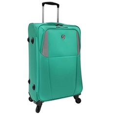 Carry On Ultra Lightweight Spinner Suitcase Travelers Choice 22In Aqua Green NEW #TravelersChoice