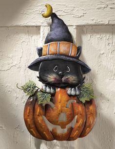 Pumpkin Black Cat Halloween