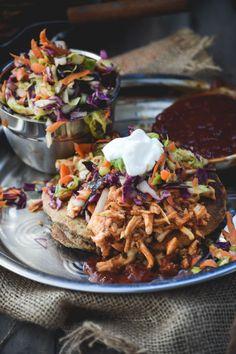 BBQ Chicken & Slaw Savory Pancakes (Redneck Tacos)Really  Mein Blog: Alles rund um die Themen Genuss & Geschmack  Kochen Backen Braten Vorspeisen Hauptgerichte und Desserts # Hashtag
