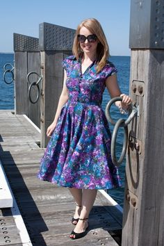The lovely Lucinda in the Circle Dress at the beach in Australia!!