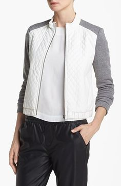 Mural Quilted Bomber Jacket available at #Nordstrom