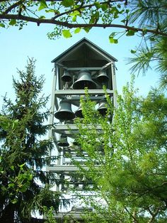 Carillon through the trees, Chicago Botanic Garden. Pinned by #ChiRenovation - www.chirenovation.com