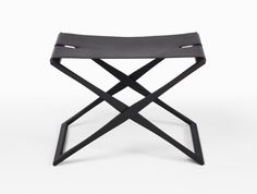 HOLLY HUNT ottoman leather & wood