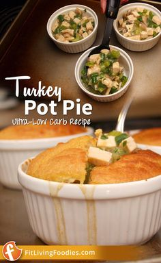 Going back to low carb after Thanksgiving? Here's an ultra-low carb recipe for those leftovers, including dairy-free and paleo-friendly versions #glutenfree
