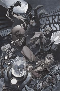 Batman and rogues by Chris Stevens