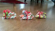 Candy sleighs.
