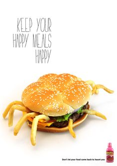 """Unhappy Meal :( """"Keep Your Happy Meals Happy."""" Designed by Miami Ad School, Miami, USA."""