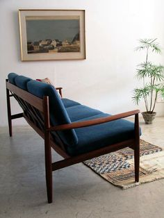 Grete Jalk; Teak Sofa for France & Son, 1950s.