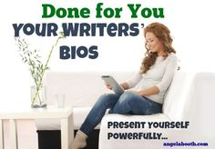 Done-For-You: Your Professional Writers' Bios - bios are essential promotional tools. Here's how to write one quickly: http://www.fabfreelancewriting.com/blog/2014/07/20/professional-writing-done-bios/