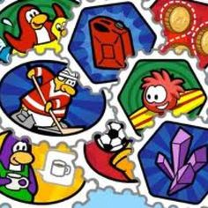 Stamps from Club Penguin