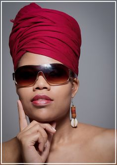 I love the color Lipstick that matches the Head Wrap...