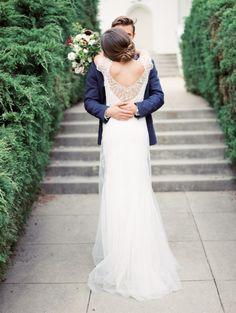 Blue & Burgundy California Wedding Inspiration   Photos by Wendy Cooper