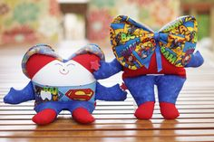 Boy Superman Tooth Fairy Pillow by christinasfairies on Etsy