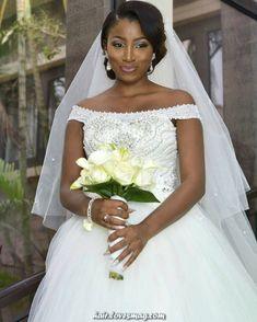 Magical Picture could comprise: 1 particular person - Coiffures de Mariage Black Brides Hairstyles, Bride Hairstyles, Bob Hairstyles, African American Brides, African Wedding Attire, Wedding Dress Chiffon, Wedding Dresses, Bride Pictures, Wedding Hair And Makeup