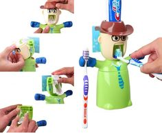 Cowboy style automatic toothpaste dispenser kitchen dining ideas pinterest cowboys and style - Keep toothpaste kitchen ...