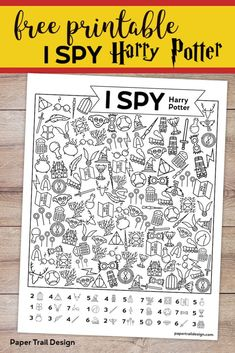 Printable Harry Potter I Spy Game. Boredom buster to keep kids busy on a rainy day or for a Harry Potter party activity.Free Printable Harry Potter I Spy Game. Boredom buster to keep kids busy on a rainy day or for a Harry Potter party activity. Harry Potter Thema, Cumpleaños Harry Potter, Harry Potter Birthday, Harry Harry, Harry Potter Halloween, Harry Potter English, Harry Potter Pumpkin, Harry Potter Bookmark, Harry Potter Activities