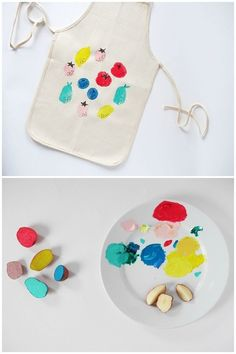 Cute and Easy Potato Stamped Apron for Kids. (Contributed by La Maison de Loulou)