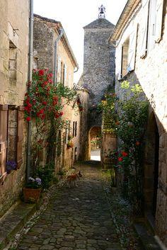 Rue du vieux village de Penne - Midi-Pyrennees - France