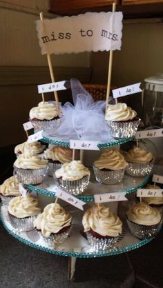 Bridal shower cupcake tower