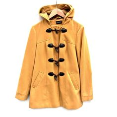 George Duffel Coat Womens Uk 14 Toggle hood Winter Warm Mustard Colour Jacket Clothes For Sale, Clothes For Women, Click Photo, My Ebay, Coats For Women, Mustard, Raincoat, Girl Outfits, Warm