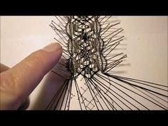 CURSO BOLILLOS 11 - YouTube Needle Lace, Bobbin Lace, Lacemaking, Lace Heart, Lace Jewelry, Lace Detail, Tatting, Needlework, Diy And Crafts