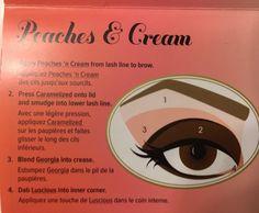Makeup Tips Eyeshadow, Peach Eyeshadow, Contour Makeup, Diy Makeup, Makeup Ideas, Makeup Organization Ikea, Peach Pallete, Blonde With Blue Eyes, Eyeshadow Step By Step