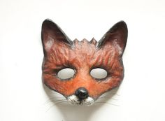 Fox Mask Animal Mask Papier Mache Woodland Fancy Dress Party Mask Cunning Fox