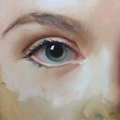Oil Painting With A Palette Knife Eye Art, Art Painting, Oil Portrait, Fine Art, Figure Painting, Oil Painting, Portrait Painting, Portrait Art, Eye Painting