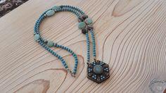 Charm- & Bettelketten - ♥ Malakette ✺ Türkis mit Amulettanhänger ♥ - ein Designerstück von Atelier-D bei DaWanda