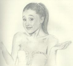 amazing ariana grande drawing