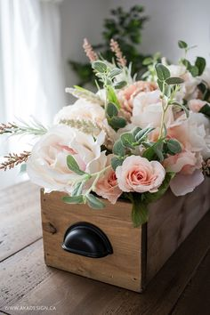Micheals Floral Market flowers in wooden crate from MichaelsMakers AKA Design