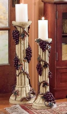 seventhavenue.com  grape  decor | Grape Candleholder Pair from Seventh Avenue ®