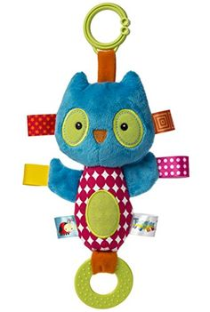 Aus der Kategorie Plüschtiere  gibt es, zum Preis von EUR 18,42  Crinkle owl squeaker toy and teether is 8-inches; includes flexible loop for attaching to stroller and crib;Features super soft fabric, embroidered face details, and chewable teether;Adorned with interactive and soothing tags babies love to explore; crinkle paper in limbs adds to the sensory fun;Great for little hands; give the body a good squeeze and owl lets out a squeak that'll make baby smile;Taggies toys, blankets and baby…
