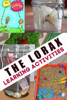 The Lorax science experiments and activities. Grow a bean in a jar, learn about pollution, make a whispa-ma-phone and more Dr Seuss science experiments Sequencing Activities, Science Activities For Kids, Science Experiments Kids, Book Activities, Activity Ideas, Pete The Cat Author, Chemistry For Kids, The Lorax, Art Lessons Elementary