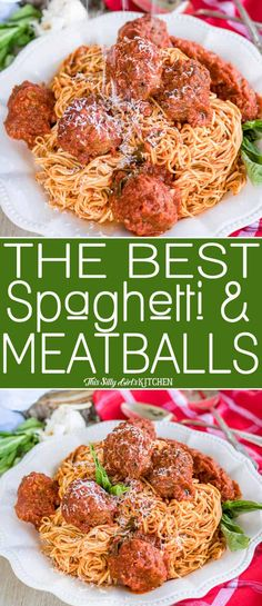 The Best Spaghetti and Meatballs Recipe from ThisSillyGirlsK. - The Best Spaghetti and Meatballs Recipe from ThisSillyGirlsKit… Spagetti And Meatball Recipe, Spaghetti Recipes, Meatball Recipes, Beef Recipes, Cooking Recipes, Healthy Recipes, Spaghetti Meatballs Sauce, Best Spaghetti Recipe, Chicken Recipes