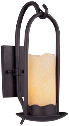 Hanging Onyx Faux Candle Wall Sconce - #51685   LampsPlus.com