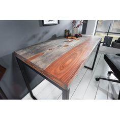 ELEMENTS tömör rózsafa íróasztal - 118cm | Modern fa íróasztal Office Table Design, Butcher Block Cutting Board, Solid Wood, Dining Table, Interior, Modern, Kitchen, Furniture, Fa