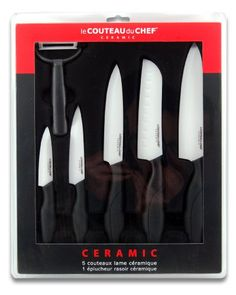 Le Couteau du Chef 447980 - Cofanetto da 6 coltelli con lama in ceramica, 30 x 37 x 3,4 cm, colore nero Le Couteau Du Chef http://www.amazon.it/dp/B00KNOYPPO/ref=cm_sw_r_pi_dp_cfCDwb1P2RT6C