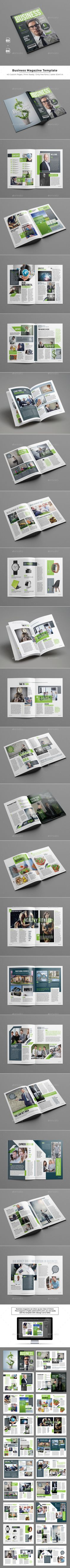 #Business #Magazine Template - Magazines Print #Templates Download here: https://graphicriver.net/item/business-magazine-template/19479725?ref=alena994