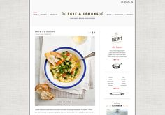 nice design for a food blog